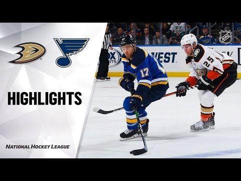 NHL Highlights   Ducks @ Blues 1/13/20