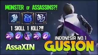Perfect Hand?! Gusion Brutal Dagger 22 KILL! AssaXIN Indonesia No 1 Gusion ~ Mobile Legends
