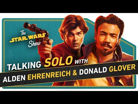 Solo's Alden Ehrenreich and Donald Glover Talk Han, Lando, and Capes, Plus Prop Masters Regal Robot!