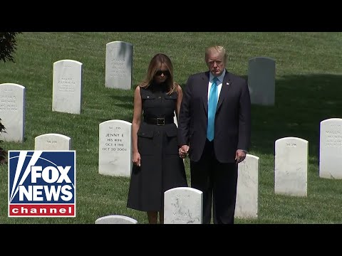 Trumps make unnanounced visit to Arlington National Cemetery
