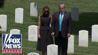 Trumps make unnanounced visit to Arlington National Cemetery