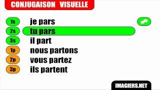 French Verb Conjugation Partir Indicatif Present