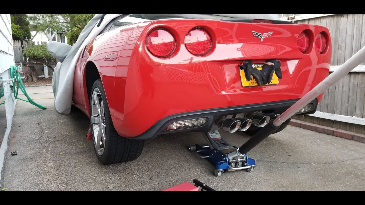 How To Jack Raise Up A C6 Corvette Youtube
