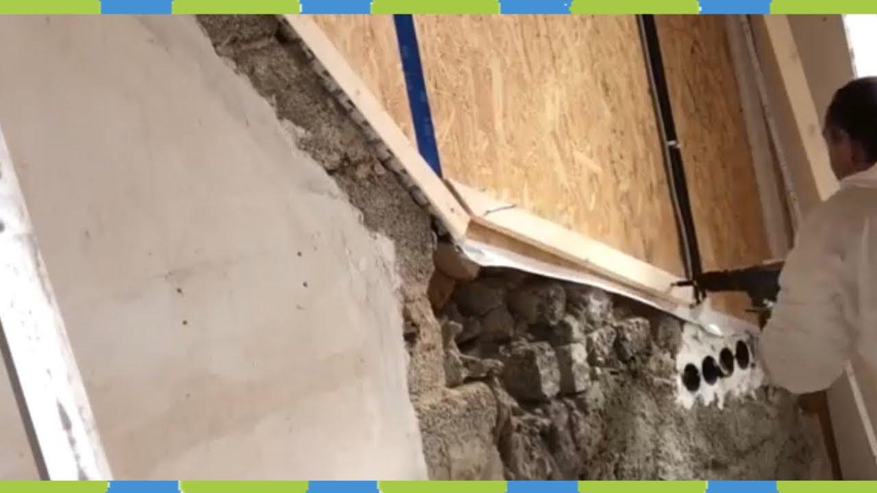 Justierschrauben Holzfußboden ~ Wand mit dachlatten und justierschrauben ins lot bringen und