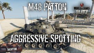 M48 Patton- Aggressive Spotting - Wot Blitz