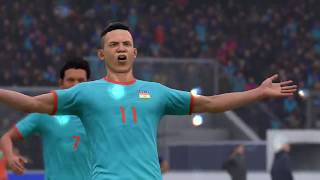 Fifa19 fc india vs barcelona in xbox one hd gameplay by gaming guruji