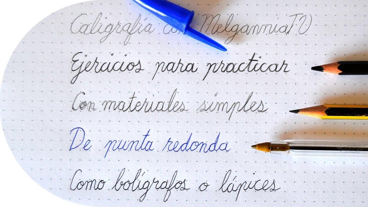 Letra Bonita Con Materiales Sencillos Tutorial De Caligrafia Melganniatv Youtube