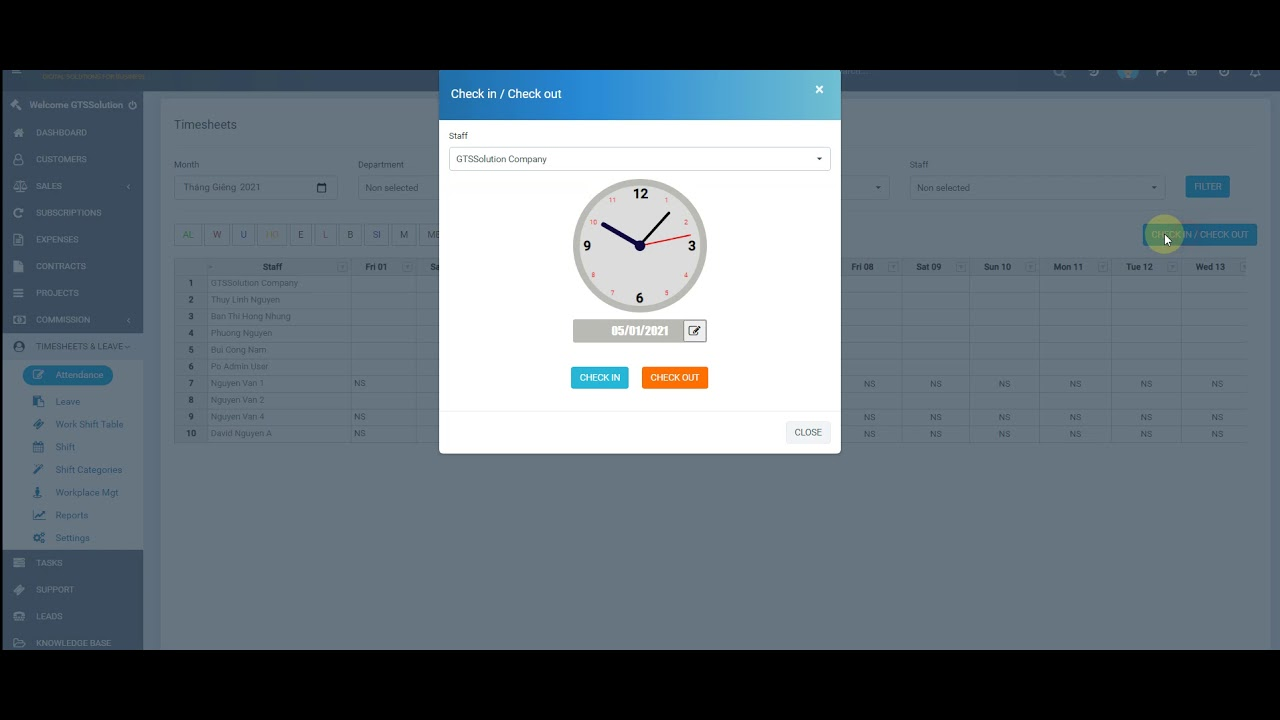 Perfex CRM Modules - Timesheets and Leave Management - Attendance With Geo Locations