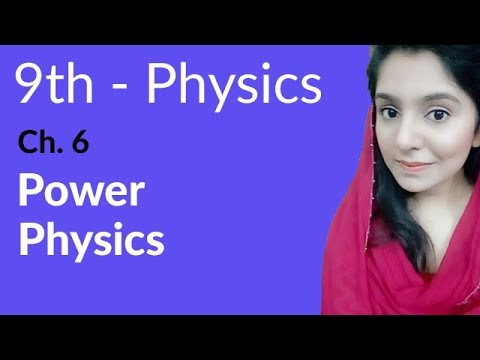 Power Physics - Physics Chapter 6 Work and Energy - 9th Class
