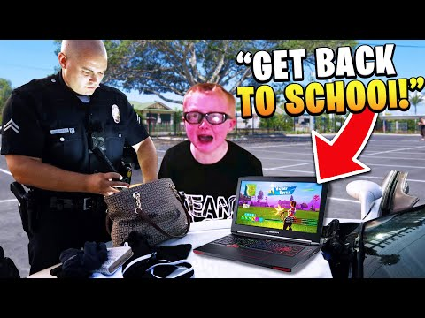 Kid gets arrested after playing fortnite in school.. (EXPELLED!)