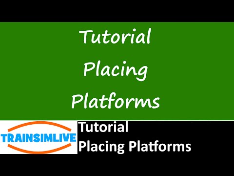 Let's Play Train Simulator 2016 Tutorial - Placing Platforms