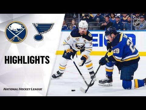 NHL Highlights   Sabres @ Blues 1/9/20