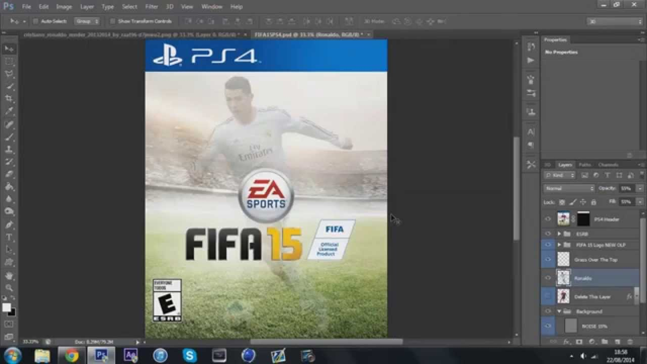 FIFA 15 Ronaldo Custom Cover Tutorial