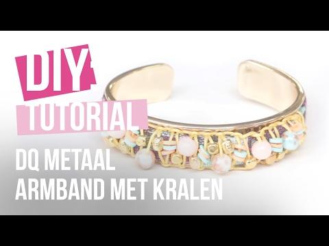 Sieraden maken: Hippe armband van DQ metaal en kralen ♡ DIY