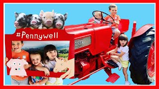 KIDS FUN Day at the FARMYARD - With Cute Animal Feeding, Tractor Rides and Outdoor Playground