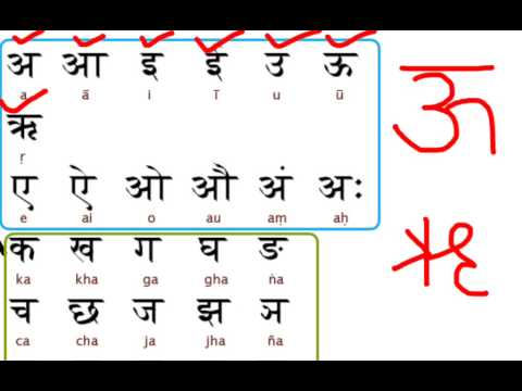 Learn hindi lesson 1 - Vowels