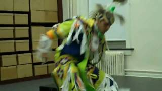 Singing, dancing, and drumming by Lenni-Lenape
