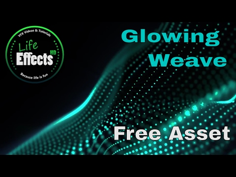 "Animated Background ""Glowing Weave"" 