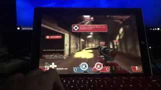 Team Fortress 2 (tf2) running on a surface 3