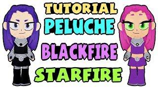 cómo hacer un peluche de blackfire starfire tutorial teen titans go