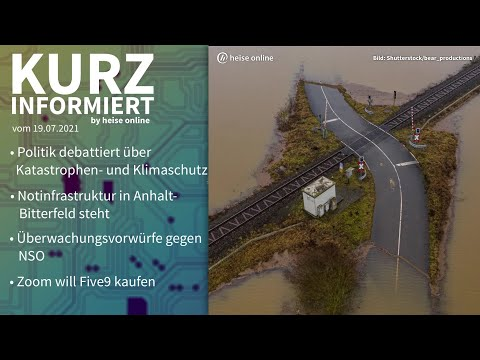 Klimaschutz, Anhalt-Bitterfeld, NSO, Zoom | Kurz informiert vom 19.07.2021 by heise online
