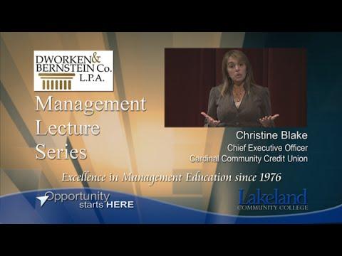 Management Lecture Series - Christine Blake, Cardinal Community Credit Union