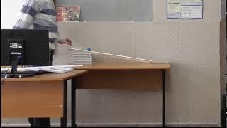 Дослідження руху тіла під дією сили тяжіння (дослід 2)