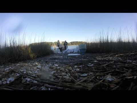Oyster washing and cleaning,  charleston South Carolina