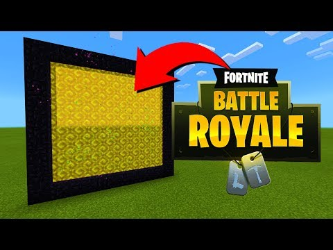 how-to-make-a-portal-to-the-fortnite-dimension-in-minecraft!