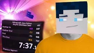 Neue persönliche BESTZEIT Minecraft Speedrun  (7:37:17) - mit HANDCAM