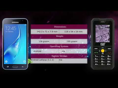 Samsung Galaxy J3 (2016) vs CAT B30 - Phone comparison