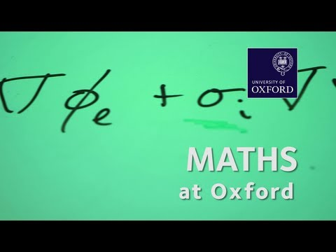 Mathematics at Oxford University