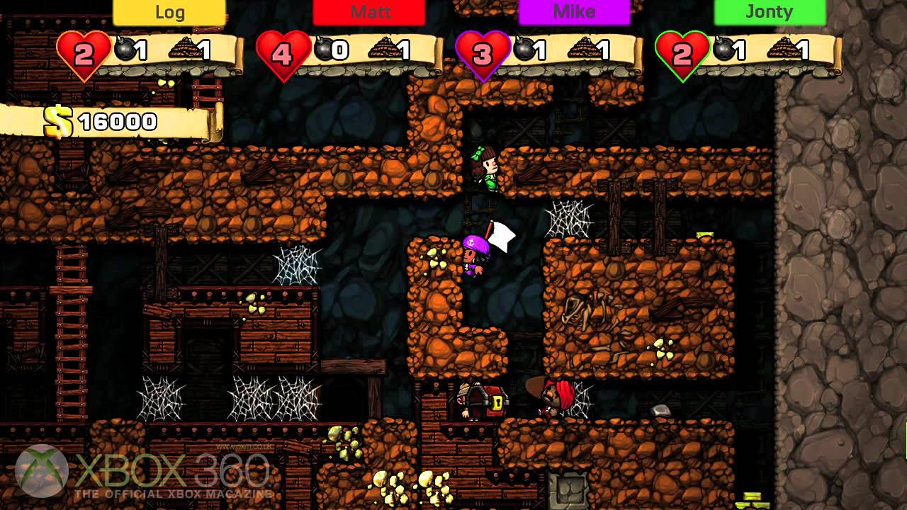 Fuse Xbox 360 Multiplayer : Spelunky xbox gameplay oxm multiplayer youtube