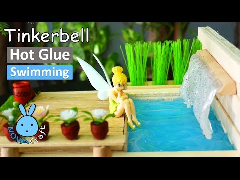 Hot Glue Waterfall Tutorial Tinkerbell Pool Awesome Hot