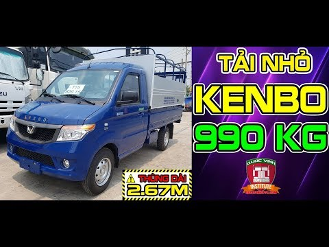 Đánh giá xe KENBO 990kg euro 4 2018 thùng dài 2.67m - trợ lực lái - máy lạnh, nhập nguyên con 100%