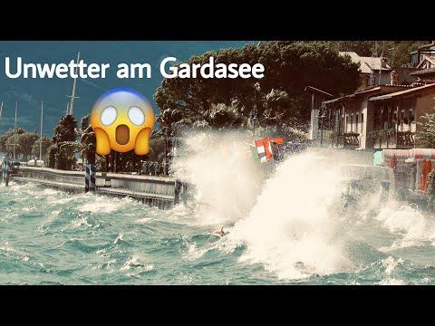 Unwetter/Sturm und Hagel am Gardasee!