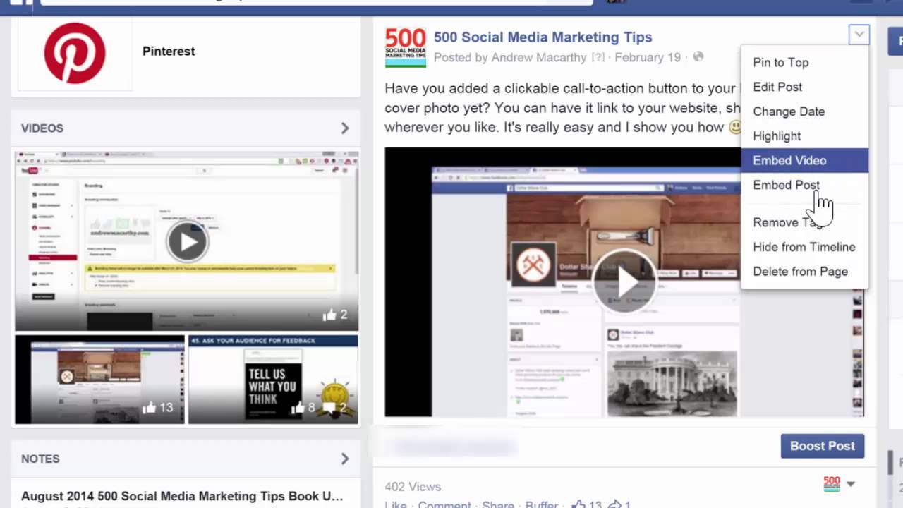How to Embed A Video On Facebook (New Facebook Video Player)