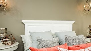 Ken Wingard is turning a door door into a stylish headboard for your bed. He points out that you should use a solid core door. He