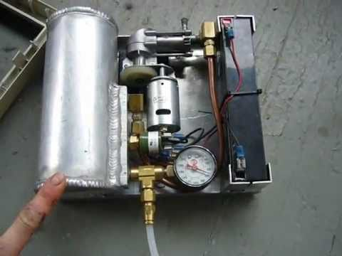 My Diy Mini Portable 12v Air Compressor Youtube