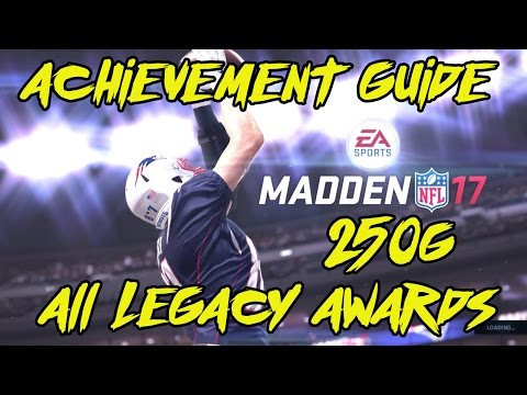 Madden 17 All Legacy Awards - Achievement Guide
