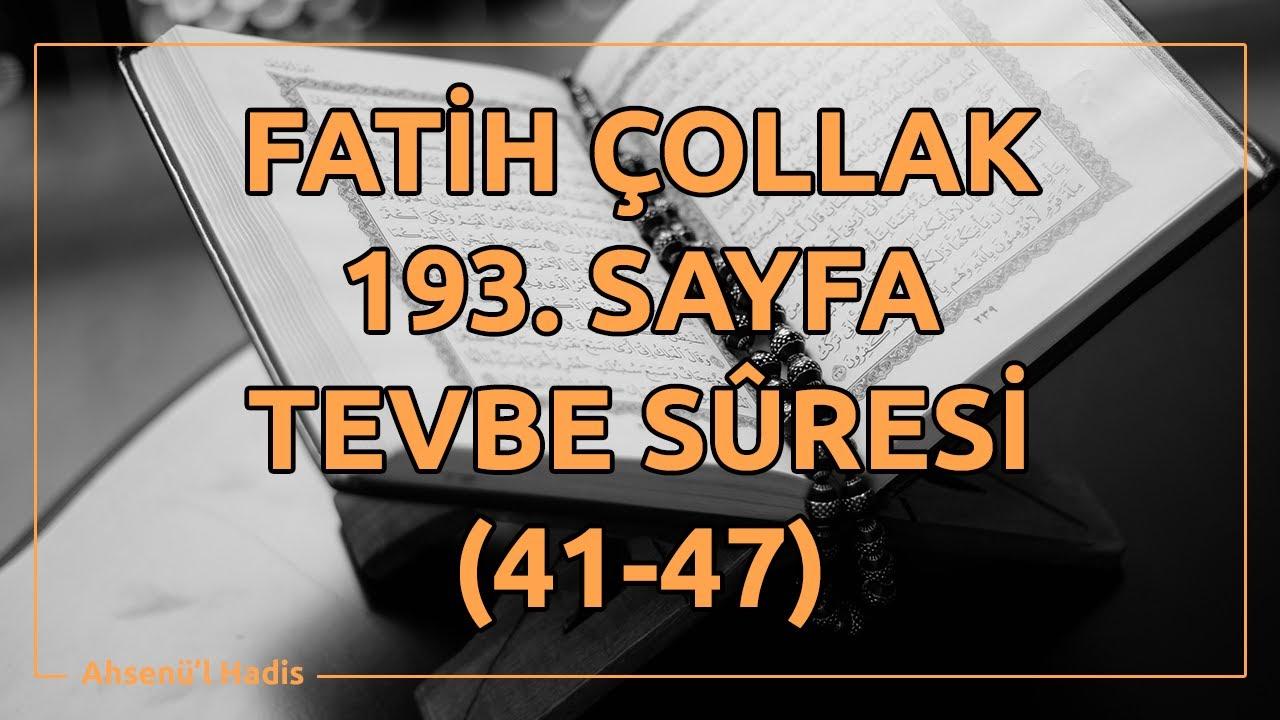 Fatih Çollak - 190.Sayfa - Tevbe Suresi (27-31)