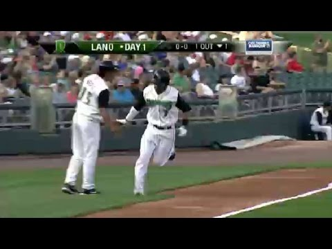 Alex Blandino homers for the Dragons