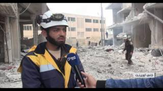 غارات مكثفة لروسيا والنظام على أحياء مدينة جسر الشغور في إدلب