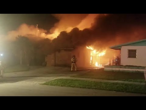 Woman says grandmother from burning Miami Gardens home