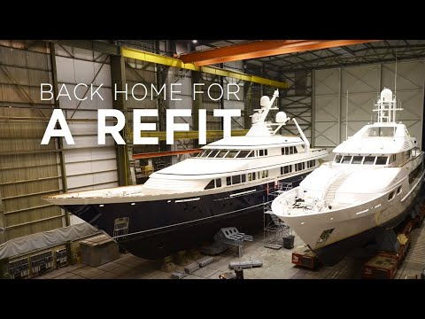 Three Feadships Come Home For a Refit at Feadship