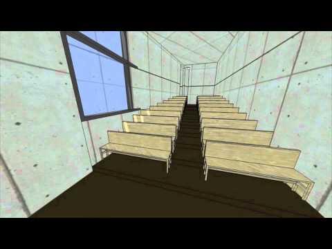 "Tadao Ando's ""Church of Light"" Sketch Up Animation"