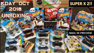 HOT WHEELS - UBOXING KDAY OCT 2018 CASES  w/SUPERS!! & Batmobile Mail In Preview