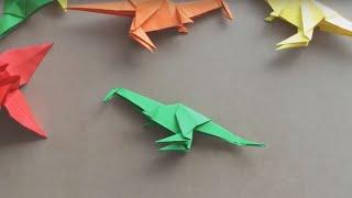 [ Origami ] Dinosaur - xếp giấy hình Khủng Long