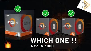 Which One You Should BUY? Ryzen 3000 CPUs Comparision and Benchmarks