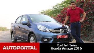 Honda Amaze 2016 Test Drive Review - Auto Portal